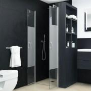 vidaXL Uși cabină de duș, jumătate mat, 75x185 cm, ESG