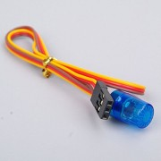 Tradico® 9x15mm RC 360 Rotation Ambulance LED Light Flash Blue JR Plug for 1:10 AX-510B