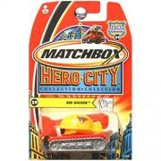 Matchbox Hero City Rig Digger Bulldozer Hard Hat Orange Yellow #29