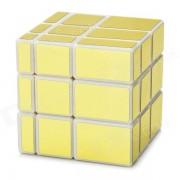 Irregular Espejo 3 * 3 * 3 cubo magico IQ - El oro + blanco