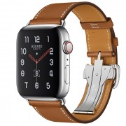 Часы Apple Watch Hermès Series 5 GPS + Cellular 44mm Stainless Steel Case with Single Tour Deployment Buckle (Fauve)