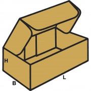 Stanzkartons mit Steckverschluss, FEFCO 0426 aus 1-welliger Pappe Innenmaße 190 x 100 x 70 mm, VE 100 Stk