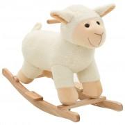vidaXL Люлееща се овца, плюш, 78x34x58 см, бяла