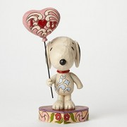 Enesco (Enesco) Peanuts by Jim Shore Snoopy with Heart Balloon 4042378 [Parallel Import Goods]