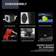 Plaque de métal de haute précision de bureau JGAURORA A4 + cadre de moulage par injection 3D Imprimante 3D physique de grande dimension (bleu)