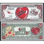 Happy Valentines Day Be My Valentine Million Dollar Sweetheart Novelty Bill Lot Of 100 Bills