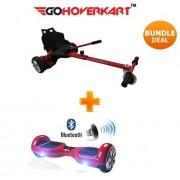 "Hoverkart and 6.5"" Bluetooth Hoverboard Daytona Red Go Racer Bundle"