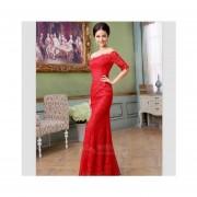 Vestido De Noche Fashion-cool Para Fiestas Bodas Rojo
