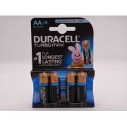 Duracell turbo max baterie alcalina Duralock LR6 AA 1,5V MX1500 blister 4