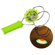 Up Mall The Cool Magnetetic Gyro Wheel Spinning Activated Rainbow Light Green (Age 3+)