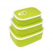 Set de trei cutii alimentare (Albastru)