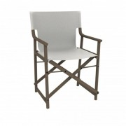 Resol - Conjunto de 2 cadeiras com braços branco e cor de chocolate BOSS - RESOL