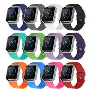 """Fitbit Blaze Bands, BeneStellar Soft Accessory Replacement Wristband Strap Classic Large Small Bands with Secure Metal Clasp for Fitbit Blaze ( Without Frame) (12-Pack, Small(5.5""""-6.7""""))"""
