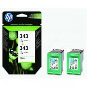 HP Originale DeskJet 5740 Cartuccia stampante (343 / CB 332 EE) colore Multipack (2 pz.), 330 pagine, 17.44 cent per pagina, Contenuto: 7 ml