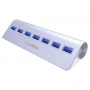 CoolBox ALU3 Hub 7 Portas USB 3.0 Branco
