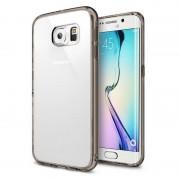 Husa Protectie Spate Ringke Fusion Smoke Black plus folie protectie fata si spate pentru Samsung Galaxy S6 Edge