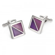 Duncan Walton Golding Cufflinks Purple C2680B