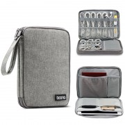 BAONA BN-D004 Digital Accessories Storage Bag Large Capacity for Data Line Earphone Cable Hard Disk etc. - Grey