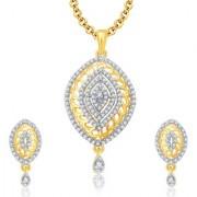 Sukkhi Joyous Gold And Rhodium Plated CZ Pendant Set For Women