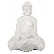 Extra Grote Witte Amithaba Meditatie Boeddha Dierenurn (6.5 liter)