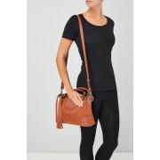 Womens Next Leather Bowler Bag - Tan