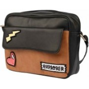 2AM Women Casual Multicolor Genuine Leather Sling Bag