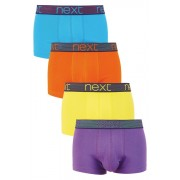 Next Contrast Waistband Hipsters Four Pack - Bright Multi - Mens