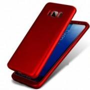 Husa Samsung Galaxy S8 Plus FullBody Elegance Luxury Red acoperire completa 360 grade cu folie de protectie gratis