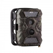 GRIZZLY Mini Wildkamera 40 Black LEDs 12 MP Full HD USB SD Batteriepack