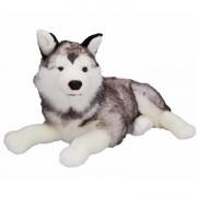 Nicotoy Siberische husky honden knuffels 55 cm knuffeldieren - Knuffel huisdieren