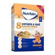 Papa 8 cereais e mel bolacha maria 300g - Nutriben