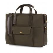 Mismo M/S Canvas Briefcase Army/Dark Brown