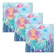 Mermaid Party Napkins (Pack of 16)