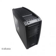 Skrinka AKASA A-ATX02BL-01 Blade - Distinction Edition case, čierno-modrá