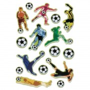 Geen 48x Voetbal stickertjes voor kinderen
