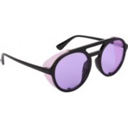 NuVew Round, Shield Sunglasses(Black, Violet)