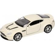 Speelgoed modelauto witte Aston Martin Vantage V12 auto 1:36