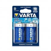 Baterii alcaline VARTA High Energy LR20/D, 2 buc/set