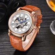 MCE relojes de alta calidad reloj mecanico completamente automatico - marron + blanco