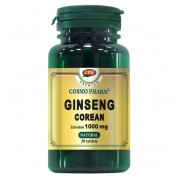 Ginseng Corean 30 tablete+ Vitamina C