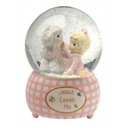 Precious Moments 102403 100mm Musical Waterball Tune, Jesus Loves Me, Girl