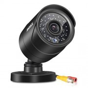 Annke (1) Security Camera with 66FT Super Night Vision, IP66 Surveillance Weatherproof Bullet Camera (Black)