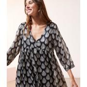 Etam Robe fluide imprimée - PALMIA - 42 - Noir - Femme - Etam