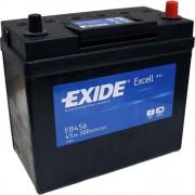 EXIDE Excell EB456 45Ah 300A ASIA autó akkumulátor jobb+ (+AJÁNDÉK!)