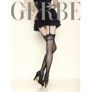 Gerbe - Elegant stockings with lace top Sun Satin 15 den