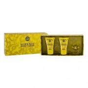 Versace Yellow Diamond set cadou apa de toaleta 5 ml + lotiune de corp 25 ml + gel de dus 25 ml pentru femei