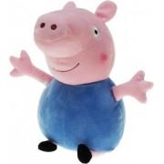 Pluche Peppa Pig/Big knuffel met blauwe outfit 28 cm speelgoed - Cartoon varkens/biggen knuffels - Speelgoed voor kinderen