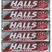Halls Cherry Sugar Free / Diabetic Mentho-Lypthus Sweet Packets