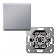 Gira TX 44 kruisschakelaar met drukknop aluminium