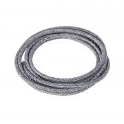 QAZQA Cavo intrecciato in tessuto 1 metro mix di nero e grigio